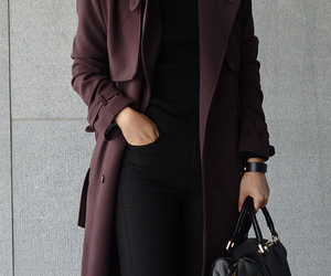 fashion, black, and coat image
