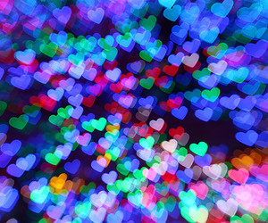 heart, hearts, and colors image