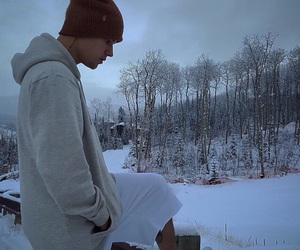 justin bieber, bieber, and snow image