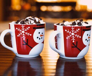 cup, snowflake, and snowman image