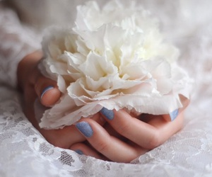 flowers, white, and wedding image