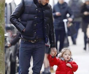 baby, dad, and David Beckham image