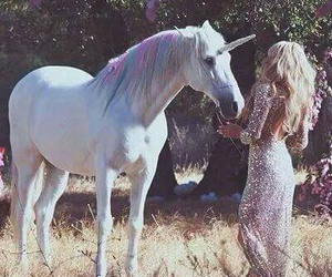 unicorn, girl, and blonde image