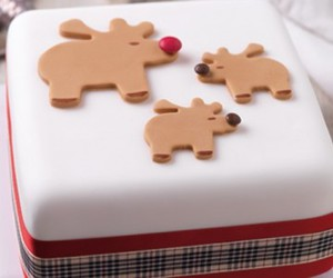 christmas, christmas cake, and christmas cake design image