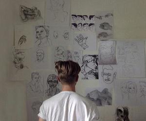 boy, art, and grunge image
