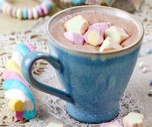 marshmallow, chocolate, and sweet image