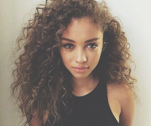 curly hair, eyes, and lightskin image