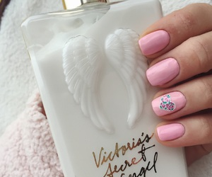 home, nails, and pink image