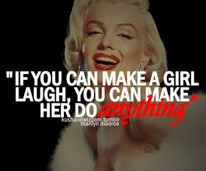 quote, Marilyn Monroe, and laugh image
