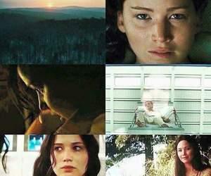 the hunger games, katniss, and peeta mellark image
