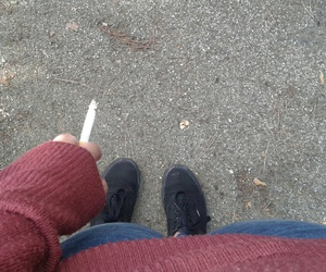 cigarettes, jeans, and smoke image