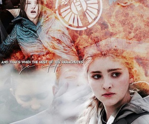 the hunger games, katniss everdeen, and primrose everdeen image