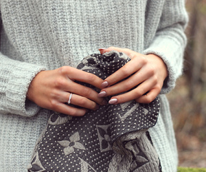 Louis Vuitton, nails, and scarf image
