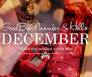 december, hello, and red image
