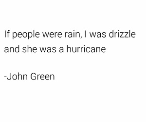 drizzle, hurricane, and john green image