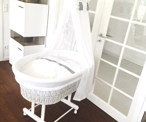 baby, basket, and interior image