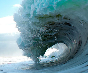 waves, blue, and sea image