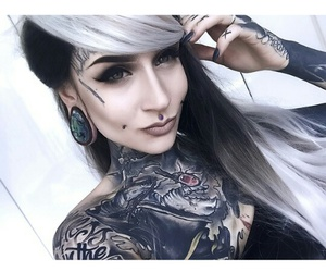 tattoo, piercing, and monami frost image