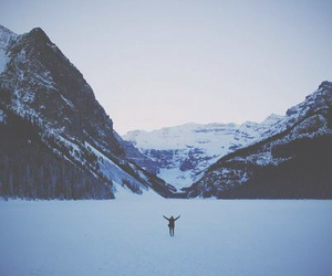 snow, mountains, and freedom image