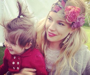 sienna miller, baby, and cute image