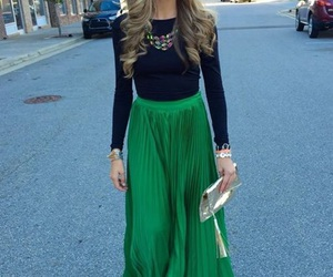 outfit, fashion, and green image