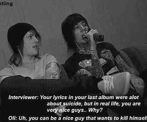 bring me the horizon, suicide, and oliver sykes image