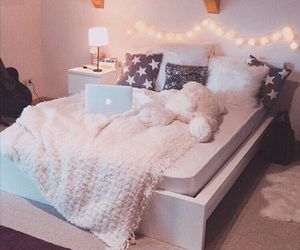 bedroom, girly, and cosy image
