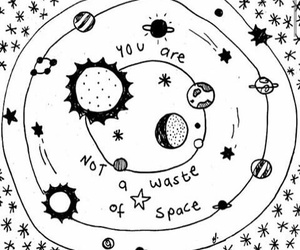 drawing, space, and art image