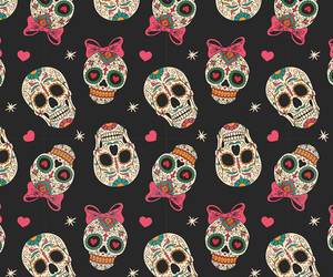 skull, wallpaper, and pattern image