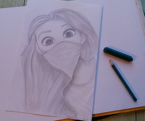 black and white, disney, and drawing image