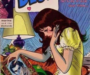 blue, marina and the diamonds, and comic image