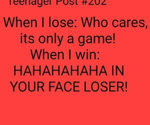 funny, losing, and teenager image