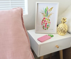 decoration, pineapple, and pink image