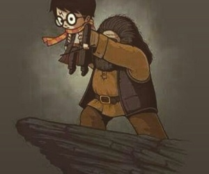 harry potter, hagrid, and funny image