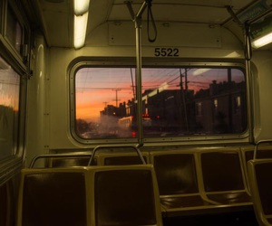 bus, sunset, and aesthetic image