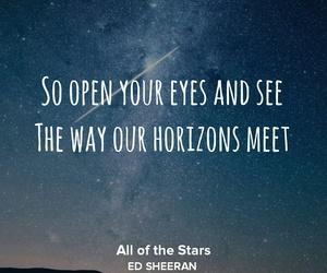 eyes, horizon, and meet image