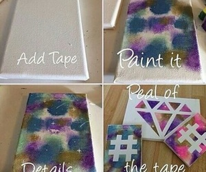 diy, paint, and diamond image