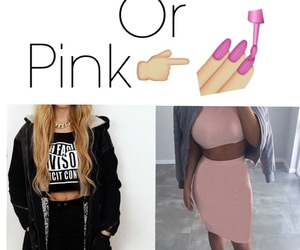 black, Or, and pink image