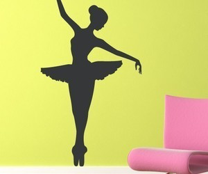 ballet, sticker, and wall image