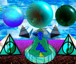 cyber, seapunk, and vaporwave image