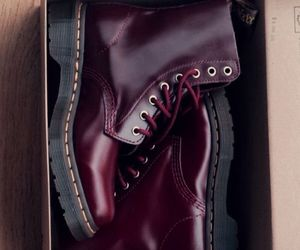 boots, burgundy, and dr. martens image
