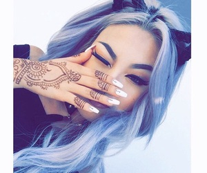 hair, henna, and nails image