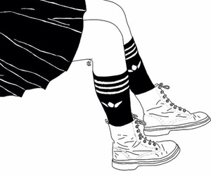 outline, drawing, and boots image