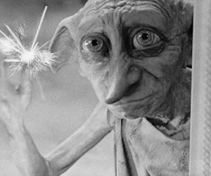 harry potter, magic, and dobby image
