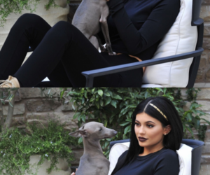 kylie jenner, beauty, and dog image