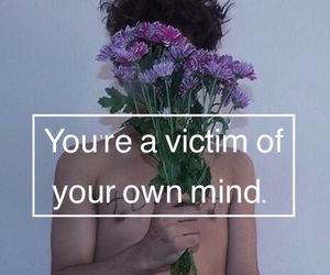 flowers, grunge, and mind image