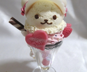 bear, ice cream, and food image
