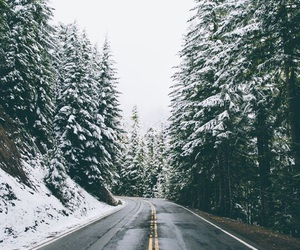 winter and road image