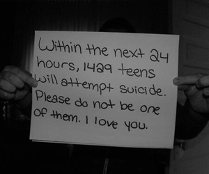 suicide, I Love You, and depressed image