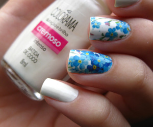 flores, flowers, and nail art image